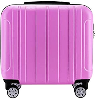 Trolley Case 18 inch Carry On Luggage Lightweight ABS 4 Wheel Spinner Suitcase Hard Cabin Travel Case Hand Luggage for British Airways Ryanair Travel Luggage Carry-Ons (Color : Pink)