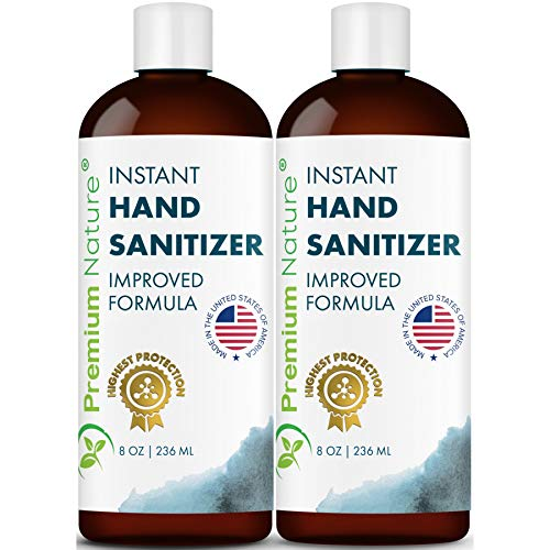 Price comparison product image Premium Nature Instant Hand Sanitizer Gel - Value Size Advanced Natural Hand Sanitize Cleaner Portable Aloe Vera Moisturizer Packaging May Vary 8 oz Pack of 2