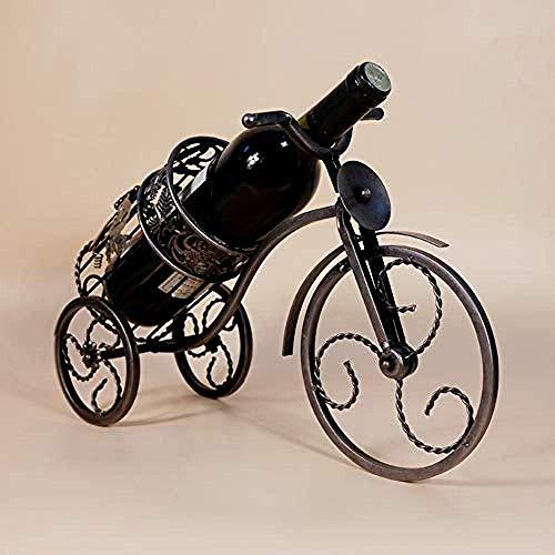 CAIJINJIN estante del vino La moda retro forjado del vino de tres ruedas de hierro de almacenamiento en rack restaurante barra de metal botella de vino de almacenamiento en el hogar de la cocina europ