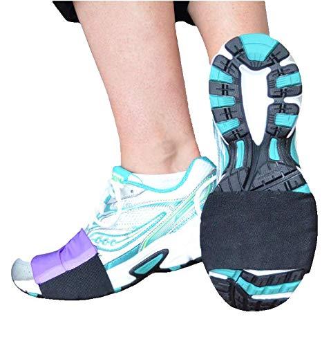 Slip-On Dancers® Teppich-Tänzerin, modisches Accessoire für Workout Schuhe – Tanzen in Sneakers und schützen die Knie, Herren, violett