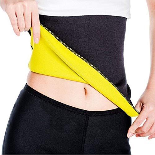 Unisex Hot Body Shaper, Neoprene Slimming Belt, Tummy Control Shapewear, Stomach Fat Burner, Best Abdominal Trainer, Workout Sauna Suit, Weight Loss Cincher for Women & Men… (Black, M)