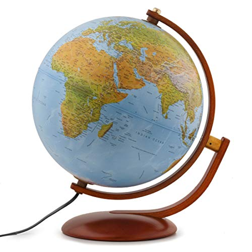 "Waypoint Geographic Light Up Globe - Gibraltar 12"" Desk Decorative Illuminated Globe with..."