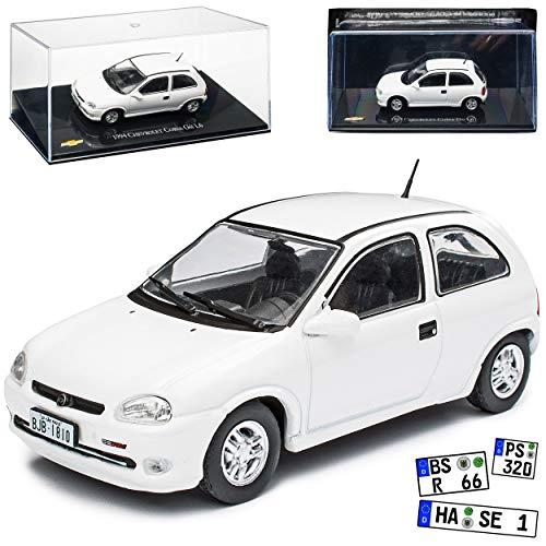 Chevrolet Opel Corsa B GSI Weiss 3 Türer 1993-2000 1/43 Ixo Modell Auto mit individiuellem Wunschkennzeichen