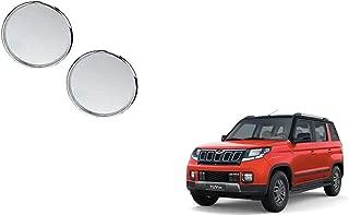 Autoladders Chrome Blind Spot Mirror Set of 2 for Mahindra Tuv 300