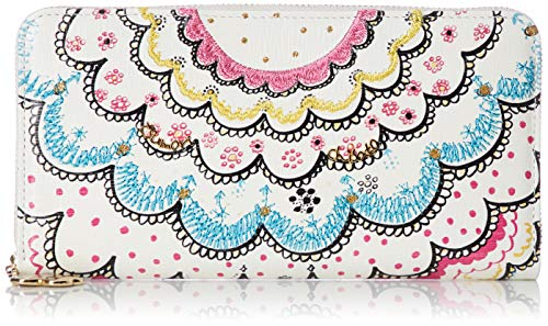 [ツモリチサト] 財布 スカラッププリント ホワイト