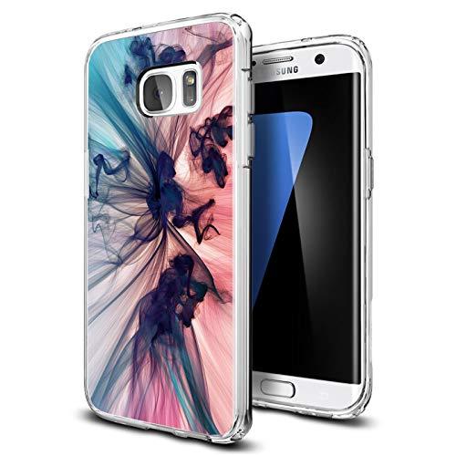 Verco Cover per Samsung Galaxy S7, Custodia Morbida Silicone per Galaxy S7 Cover con Motivo, Astratto