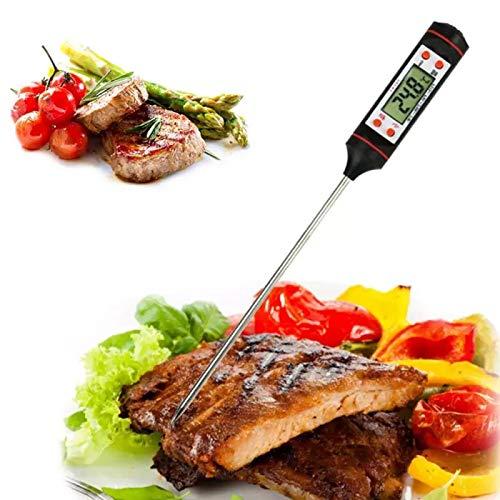 Termómetro digital para carne con sonda larga, lectura instantánea, apagado automático, termómetro para cocinar alimentos