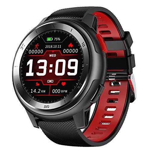 Senbos Smartwatch 1.2 Zoll Touchscreen Aktivitäts-Tracker für Männer IP68 wasserdichte Verbindung APP Erinnern Outdoor-Sport Mens Watche mit Schrittzähler Fern Nehmen Health Monitor Fitness Trackers