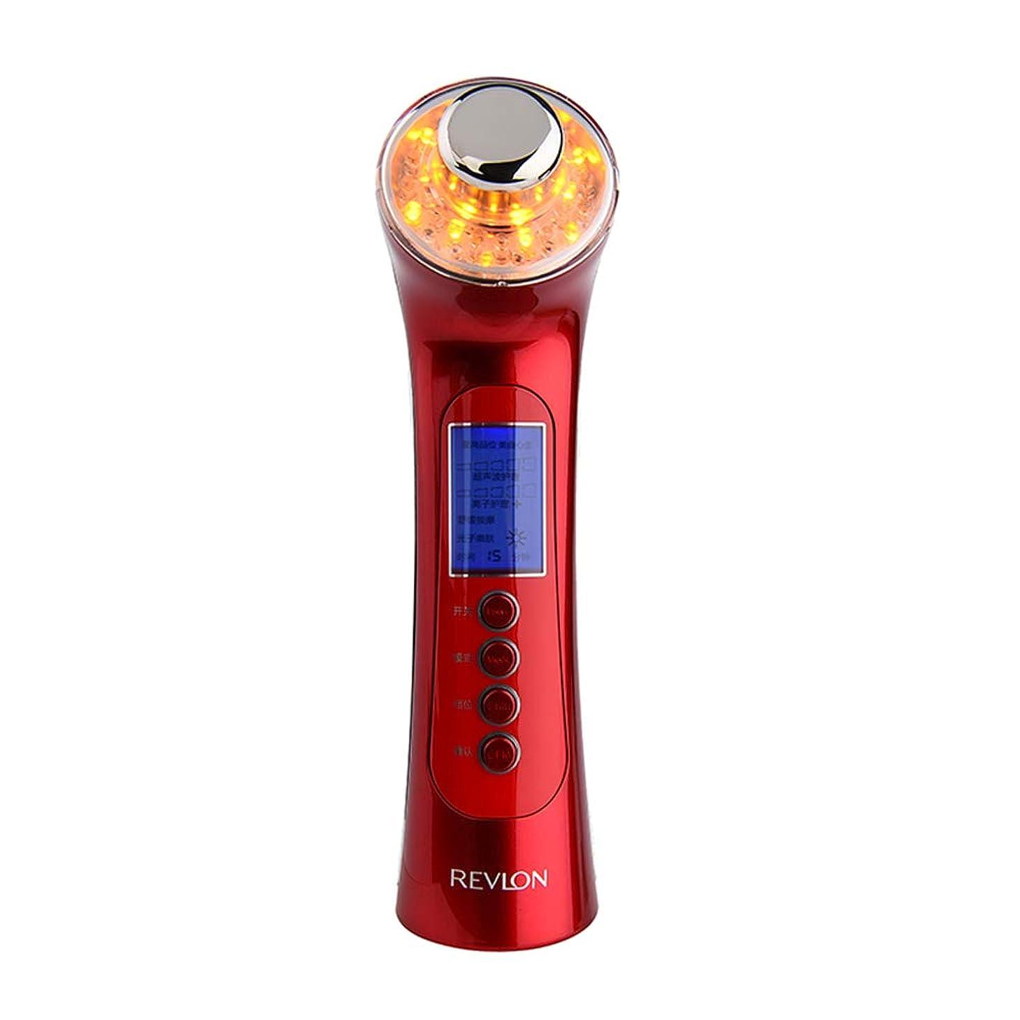 脆いプレゼンテーションスライム肌を引き締め機、5に1で5洗顔マッサージマッサージマッサージャーで3色ライトディープクレンジングアンチエイジング多機能振動美容機器