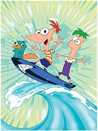 BOIPEEI Rompecabezas Phineas Y Ferb Juego De Juguete Rompecabezas De Madera 1000 Piezas