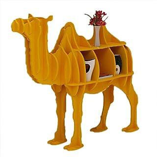ORPERSIST Almacenamiento En Rack De Aterrizaje, Estantería De Modelado De Camello De Madera, Estantería De Visualización De Ventana De Bricolaje En El Hogar, Amarillo/Rojo (S/M / L/XL),Yellow,M