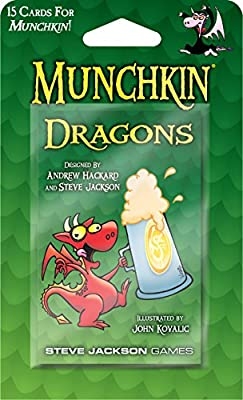 Steve Jackson Games Munchkin Dragons Booster Pack from Publisher Services Inc (PSI)