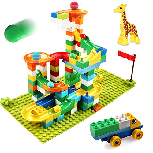 Marble Run Building Blocks, 137 PCS Classic Big Blocks STEM...