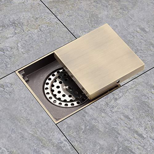 Ayhuir Abflussrinnen Duschabtropfungen Quadratische Dusche Bodenbelag Antik Messing Chrom Stecker Bad Abläufe Stopper