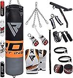RDX Boxsack Set Gefüllt Kickboxen MMA Muay Thai Boxen mit wandhalterung Stahlkette Training...