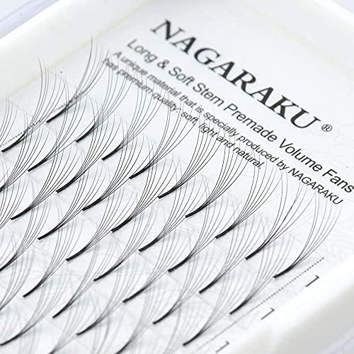 NAGARAKU Extensiones de Pestañas Volumen Ruso 5D 0.07 C Ahorrar Tiempo Premade Fans Eyelash Extensions Pestañas Postizas Naturales Blando Suave Negra Extensión de pestañas (0.07 C 15mm)