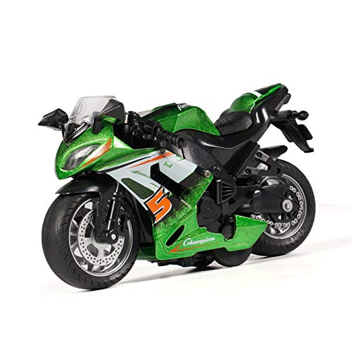 Motorcycle Toy - with Light and Music Toys Motorcycle Model, Toy Motorcycles for Boys,Motorcycle Toys for Kids 2-9 Year Old (Green)
