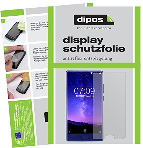 dipos I 6X Schutzfolie matt kompatibel mit Doogee Mix (5,5 Zoll) Folie Bildschirmschutzfolie (3X Vorder- und 3X Rückseite)
