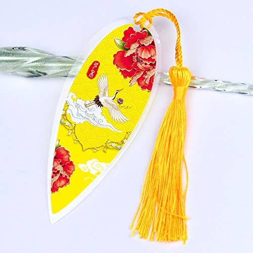 Foglia Segnalibri, Creativo Nappa Plastica Contrassegno Di Libro 1 Pz Portafortuna Ornamento Appeso Decorazioni Murali Decorazione Di Arte-m 5.3x13cm