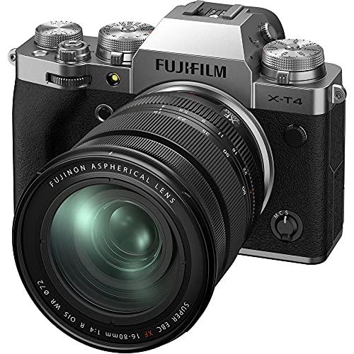 Fujifilm Digital X-T4 Appareil Photo Numérique (26,1 Megapixel, X-Trans CMOS 4 Sensor, 7,6 cm Touch-LCD) + XF16-80mmF4 R OIS WR Objectif Kit,argent 16651277