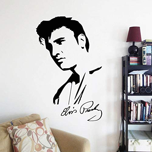 Wandaufkleber Porträt Berühmtes Elvis Presley Gesicht Unterschrift Home Decorationapper Haus Dekor