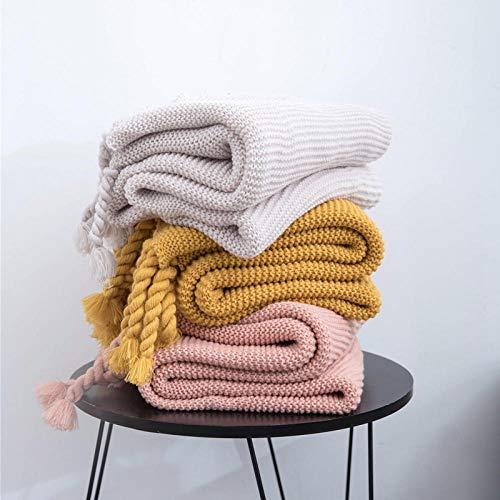XUMINGLSJ Flannel Fleece Throw Blankets Travel Size - Super Soft Fluffy Warm Solid Bed Throws for Sofa Microfiber Blanket -turmeric_130*170cm