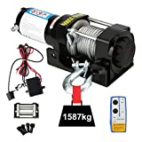 12V 3500lbs (1587KG) Electric Winch, Auto Lift Winch with Remote Control System, Car Accessories