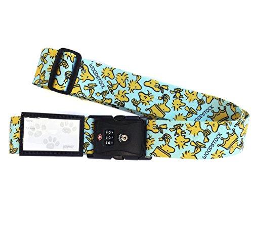 日本製 かわいい ワンタッチ スーツケースベルト スヌーピー TSA ロック付き ウッドストック