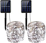AMIR Solar Powered String Lights, 200 LED Copper Wire Lights, 72ft 8 Modes