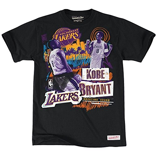 Mitchell & Ness Los Angeles Lakers Kobe Bryant NBA Tailored Player T-Shirt colore nero