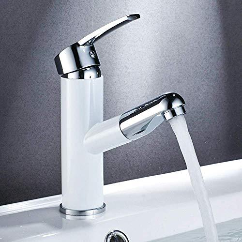 CESULIS Cobre Tire Cuenca del Grifo Agua fría y Caliente Sola manija del Grifo del Lavabo de baño Hermosa práctica