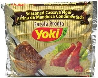 Seasoned Cassava Flour - Yoki - 17.6 oz   Farofa de Mandioca Pronta - Yoki - 500g - (PACK OF 24)