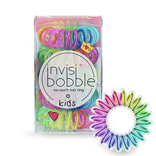 invisibobble Kids Spiral Hair Ring - 5 Pack, Magic Rainbow - No-Ouch...
