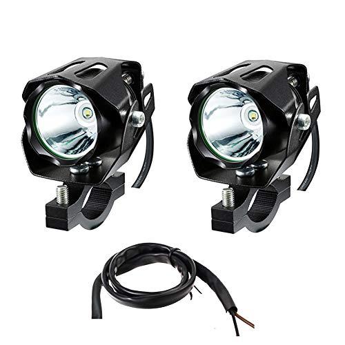 JYMDH 2 Piezas 10w Faros De Motocicleta,Proyectores Frontales Led 3600ml Lámpara Auxiliar Arnés De Cableado,con Soporte De Montaje Iluminación Impermeable-A