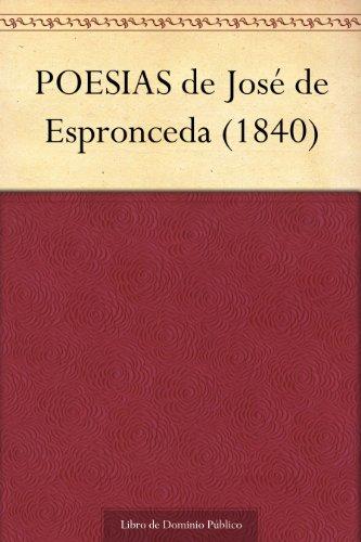 POESIAS de José de Espronceda (1840)