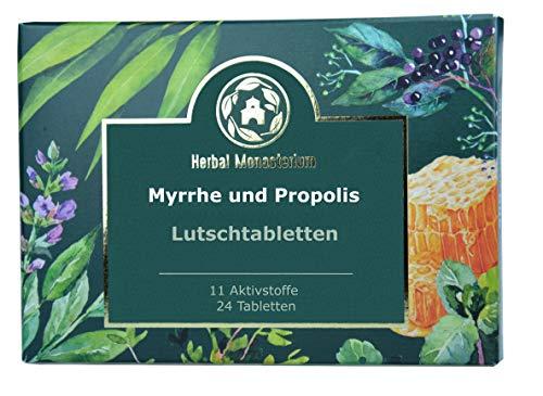 Lutschtabletten, Myrrhe, Propolis plus 8 Kräuterextrakte, Vit. C, auch für Kinder, Erkältung, Halsschmerztabletten, schleimlöser, Zahnfleischentzündung, halsschmerzen, 24 St.