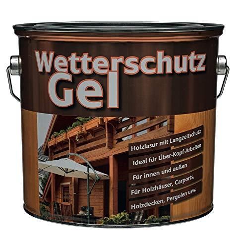 Meffert Langzeit Wetterschutzgel für innen und aussen seidenmatt Farbton Wählbar 4 Liter, Farbe:Nussbaum