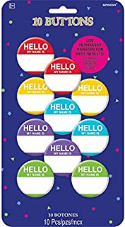 amscan Hello My Name is Buttons, Party Favor