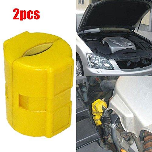 zhuotop 1 Paar Magnetisch Spritsparer Fuel Saver Auto Kraftfahrzeug Benzin Gas Einsparung Economiser Set Kunststoff