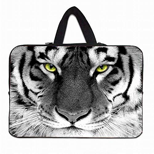 Yinghao Computer Neopren Tasche 10 12 13 14 15 17 Zoll Notbook Laptop Griff Fall für Lenovo Acer Aspire One HP MacBook Chromebook PC@Tiger_17 Zoll