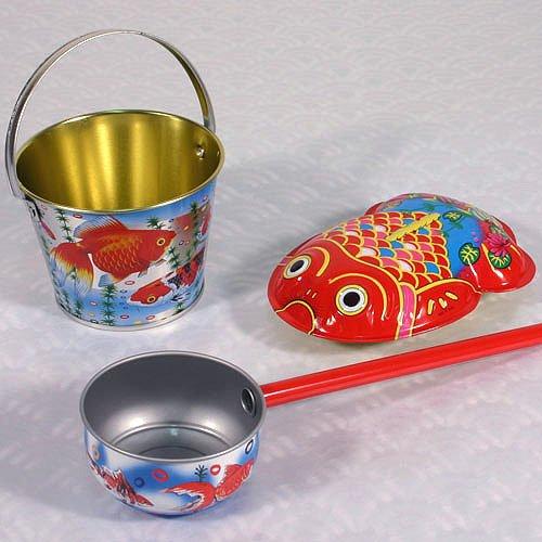 水あそびセット 水遊び バケツ 金魚