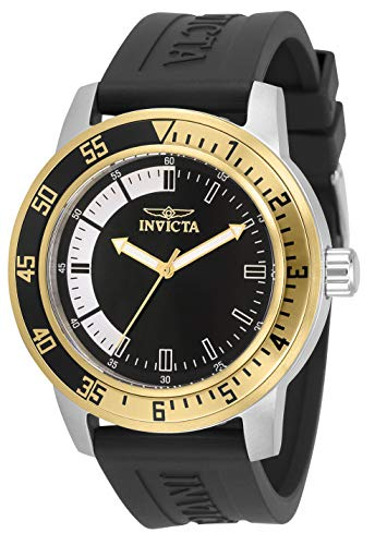 Invicta Men's Specialty Stainless Steel Quartz Watch with Silicone Strap, Black, 22 (Model: 34097)