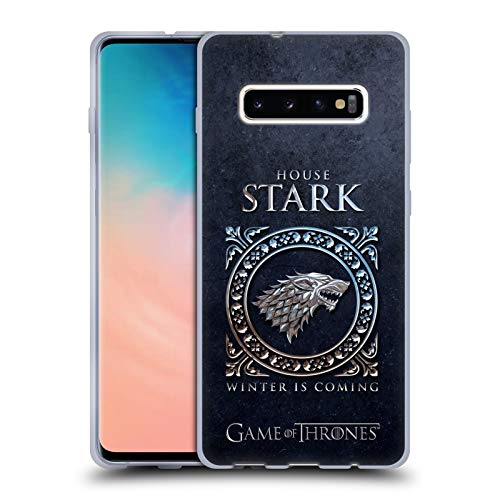 Head Case Designs Officially Licensed HBO Game of Thrones Stark Metallic Sigils Soft Gel Case Compatible with Samsung Galaxy S10+ / S10 Plus