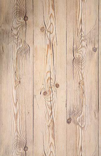 """(Marrón Vintage, Paquete de 1) Papel tapiz de mural autoadhesivo con veta de madera reciclada y rústica 50cm X 15M (19,6"""" X 590""""), 0,15mm Para revestimiento de restauración de muebles, sala de estar"""