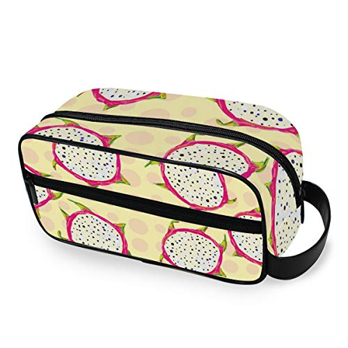 Filles Juicy Fruit Dragon Tools Cosmetic Train Case Portable Makeup Bag Storage Toiletry Pouch Travel