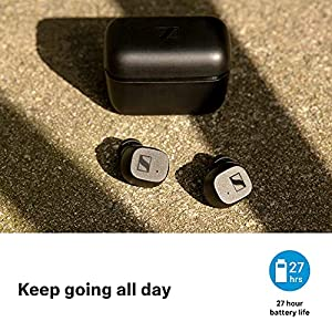Sennheiser CX True Wireless Earbuds - Bluetooth in-Ear Headphones for Music and Calls with Passive Noise Cancellation, Customizable Touch Controls, Bass Boost, IPX4 and 27-Hour Battery Life, Black