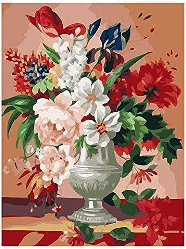 UPUPUPUP DIY Bild nach Zahlen, Mohn, Malen nach Zahlen, Blumen Malen nach Zahlen, 50X70Cm Eingerahmt