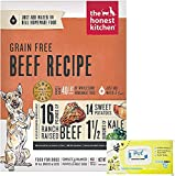 The Honest Kitchen Human Grade Dehydrated Grain Free Dog Food, Beef 10lb with 100ct Pet Wipes