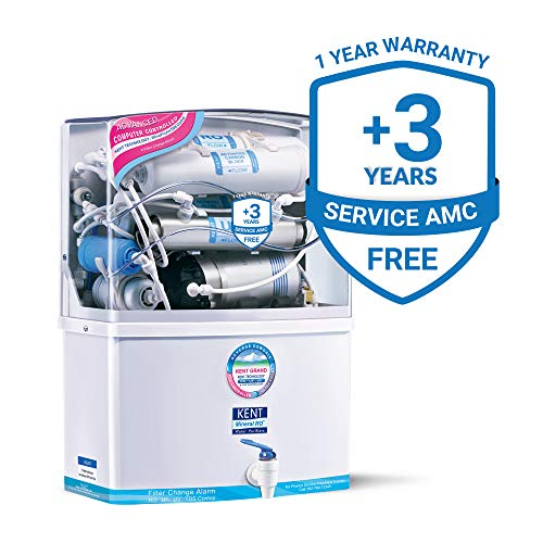 KENT Grand 8-Litres Wall-Mountable RO + UV/UF + TDS Controller (White) 15 ltr/hr Water Purifier