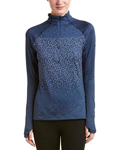 adidas al Aire Libre de Las Mujeres 1/2Cremallera Manga Larga Camiseta, Mujer, Mineral Blue
